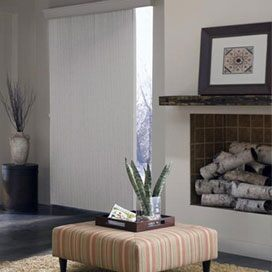 Vertical Blinds On a Sliding Door Room Scene
