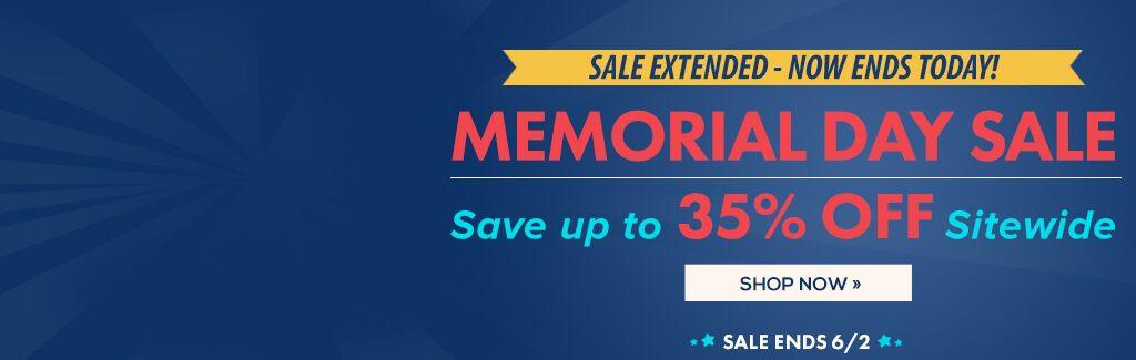 Memorial Day Savings