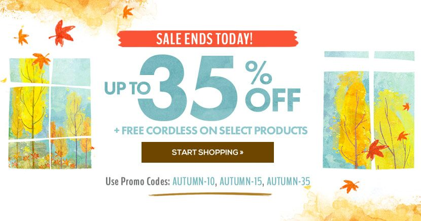 Fall Sale - Up to 35% Off