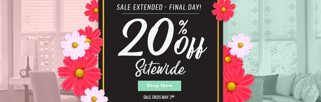 Four Days Only - 20% Off Sitewide