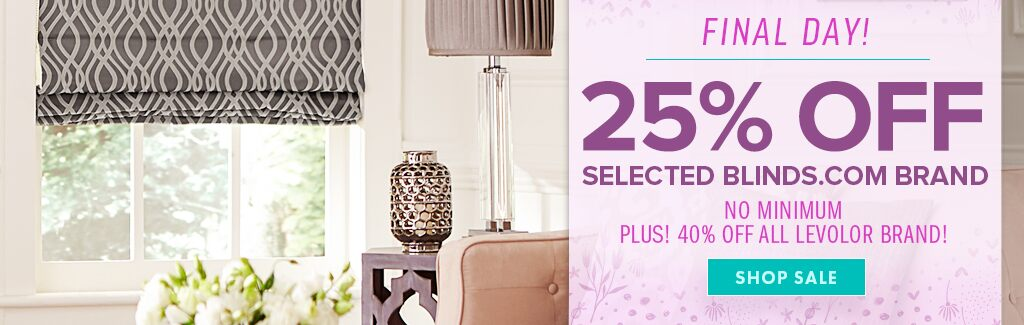 25% Off Select Blinds.com Brand