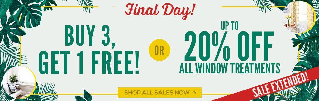 Buy 3, Get 1 Free or Save 20%