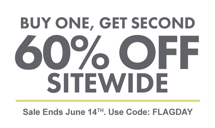 Flash Sale - Buy One, Get Second 60% Off Sitewide